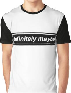 "Oasis Logo Inspired ""Definitely Maybe"" Graphic T-Shirt"