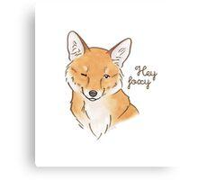 Hey Foxy Canvas Print