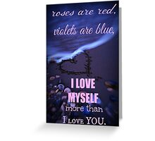 mean valentine #2 Greeting Card