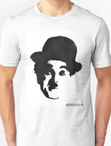 Charlie Chaplin Spray Paint Portrait Unisex T-Shirt