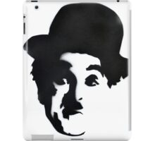 Charlie Chaplin Spray Paint Portrait iPad Case/Skin