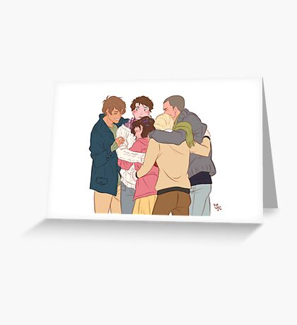 gangsey group hug Greeting Card