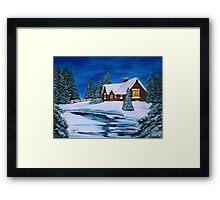 Winter landscape-1 Framed Print