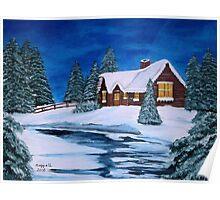 Winter landscape-1 Poster