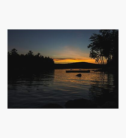 Green Lake Sunset Photographic Print