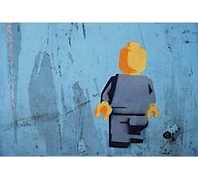 Blank Lego Man Photographic Print
