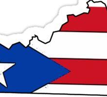 Puerto Rico flag Kentucky outline Sticker