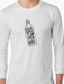 BOTTLE BLACK Long Sleeve T-Shirt