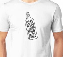 BOTTLE BLACK Unisex T-Shirt