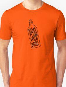 BOTTLE BLACK Unisex T-Shirt
