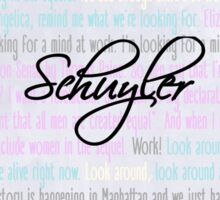 The Schuyler Sisters // Work! Sticker