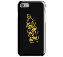 BOTTLE GOLD iPhone Case/Skin