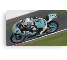 #76 Hiroki ONO MOTO3 Silverstone 2015 Canvas Print