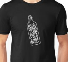 BOTTLE WHITE Unisex T-Shirt