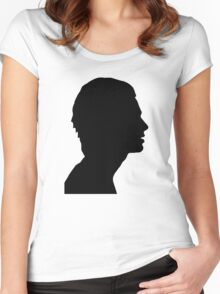 Matty Healy Silhouette  Women's Fitted Scoop T-Shirt