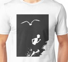 beach running with eagle Unisex T-Shirt