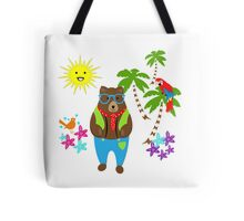 Teddy Bears Exotic Summer Holiday Tote Bag