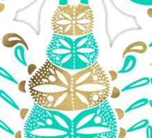 Scorpion – Turquoise & Gold Sticker