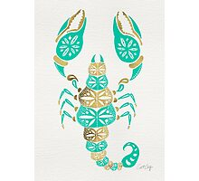 Scorpion – Turquoise & Gold Photographic Print