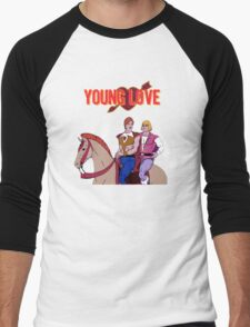 Young Love (He-Man and Bow) Men's Baseball ¾ T-Shirt