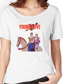 Young Love (He-Man and Bow) Women's Relaxed Fit T-Shirt