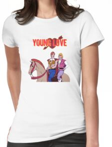 Young Love (He-Man and Bow) Womens Fitted T-Shirt