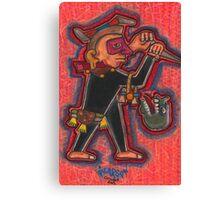 Aztec Guard Canvas Print