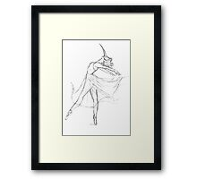 Black Death Ballet Framed Print
