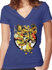 Elecfamz Women's Fitted V-Neck T-Shirt