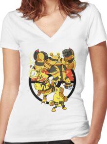 Elecfamz Women's Fitted V-Neck T-Shirt