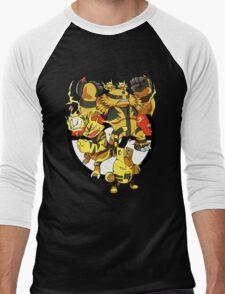 Elecfamz Men's Baseball ¾ T-Shirt