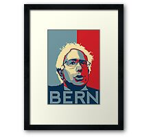 Bernie Sanders - Bern (Off White Hair) Framed Print
