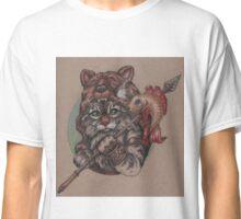 Viking Cat Bear (with fish) Classic T-Shirt