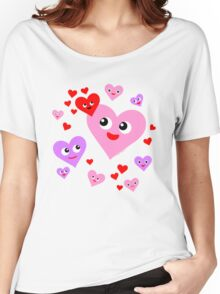Super Happy Hearts Women's Relaxed Fit T-Shirt