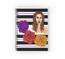 3 Flower Portrait Spiral Notebook