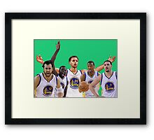 Golden State Warriors Starters Framed Print