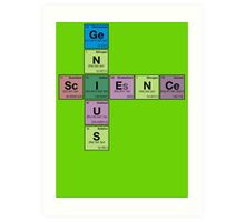 SCIENCE GENIUS! Periodic Table Scrabble Art Print
