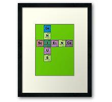 SCIENCE GENIUS! Periodic Table Scrabble Framed Print