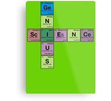 SCIENCE GENIUS! Periodic Table Scrabble Metal Print