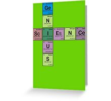 SCIENCE GENIUS! Periodic Table Scrabble Greeting Card