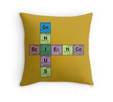 SCIENCE GENIUS! Periodic Table Scrabble Throw Pillow