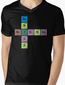 SCIENCE GENIUS! Periodic Table Scrabble Mens V-Neck T-Shirt