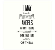 Sherlock - I May Be on the Side of the Angels Art Print