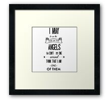 Sherlock - I May Be on the Side of the Angels Framed Print