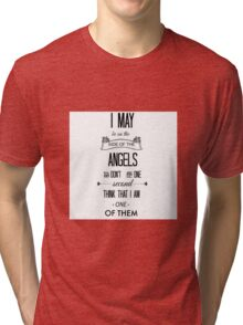 Sherlock - I May Be on the Side of the Angels Tri-blend T-Shirt