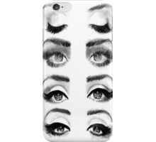 Black and White Eye Lines iPhone Case/Skin