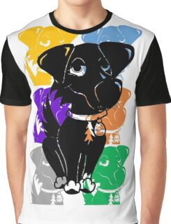 Rocky Dog the Border collie Graphic T-Shirt