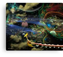 The History of the Bioluminoidal Fractalization Process Canvas Print