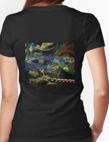 The History of the Bioluminoidal Fractalization Process Womens Fitted T-Shirt