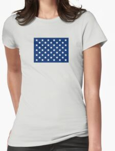 Former Naval Jack of the United States  Womens Fitted T-Shirt